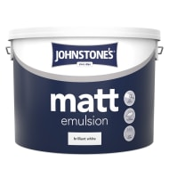Johnstone's Paint Matt Emulsion - Brilliant White 10L