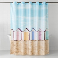 Photo Shower Curtain - Beach Huts