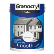 Granocryl Smooth Masonry Paint - Brilliant White 5L