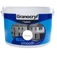 Granocryl Smooth Masonry Paint - Brilliant White 10L