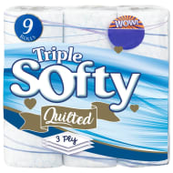 Triple Softy Toilet Roll 9pk - Blue