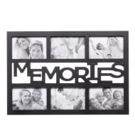 6pc Word Multi Frame - Black - Memories