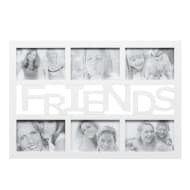 6pc Word Multi Frame - White - Friends