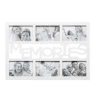 6pc Word Multi Frame - White - Memories