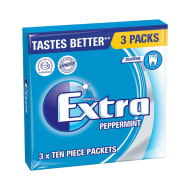 Wrigley's Extra Chewing Gum Peppermint 3 x 10pcs