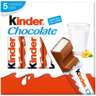 Kinder Chocolate Snack Bars 5pk