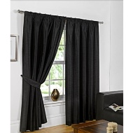 Faux Silk Fully Lined Pencil Pleat Curtains 66 x 90