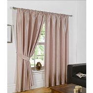 Faux Silk Fully Lined Pencil Pleat Curtains 45 x 54