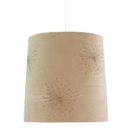 Faux Suede Traditional Cylinder Light Shade