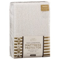 Faux Lambswool Mattress Protector - Single