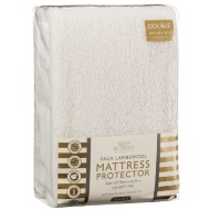 Faux Lambswool Mattress Protector - Double
