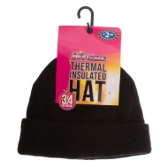 HEATsaver Ladies Thermal Insulated Hat - Black