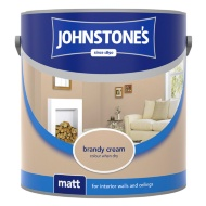 Johnstone's Paint Vinyl Matt Emulsion - Brandy Cream 2.5L