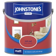Johnstone's Paint Vinyl Matt Emulsion - Rich Red 2.5L
