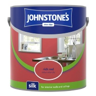 Johnstone's Paint Vinyl Silk Emulsion - Rich Red 2.5L