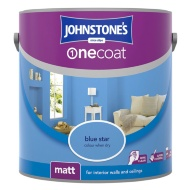 Johnstone's Paint One Coat Matt Emulsion - Blue Star 2.5L