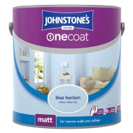 Johnstone's Paint One Coat Matt Emulsion - Blue Horizon 2.5L