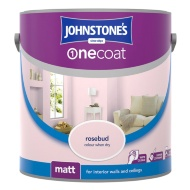 Johnstone's Paint One Coat Matt Emulsion - Rosebud 2.5L