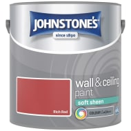 Johnstone's Paint Vinyl Soft Sheen Emulsion - Rich Red 2.5L