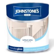 Johnstone's Non Drip Gloss Paint - Brilliant White 2.5L