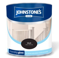 Johnstone's Non Drip Gloss Paint - Black 2.5L