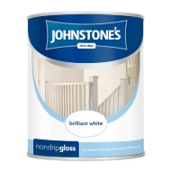 Johnstone's Non Drip Gloss Paint - Brilliant White 750ml