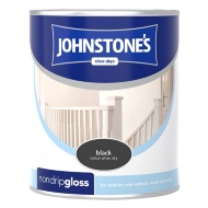 Johnstone's Non Drip Gloss Paint - Black 750ml