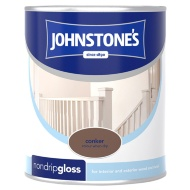 Johnstone's Non Drip Gloss Paint - Conker 750ml