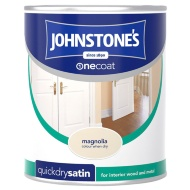 Johnstone's One Coat Satinwood Paint - Magnolia 750ml