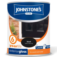 Johnstone's Paint Exterior Gloss - Black 750ml