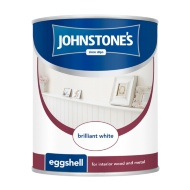 Johnstone's Eggshell Paint - Brilliant White 750ml