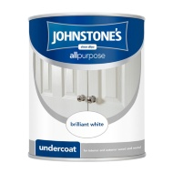 Johnstone's All Purpose Undercoat Paint - Brilliant White 750ml