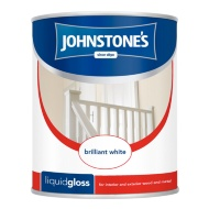Johnstone's Liquid Gloss Paint - Brilliant White 750ml