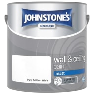 Johnstone's Paint Vinyl Matt Emulsion - Brilliant White 2.5L