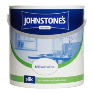 Johnstone's Paint Vinyl Silk Emulsion - Brilliant White 2.5L