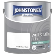 Johnstone's Paint Vinyl Soft Sheen Emulsion - Brilliant White 2.5L