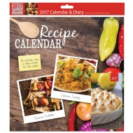 Square Calendar & Diary 2017 - Recipes