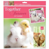 Square Calendar & Diary 2017 - Animals