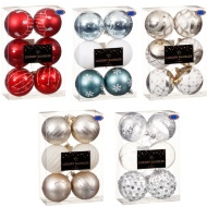 Luxury Christmas Baubles 6pk 80mm