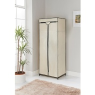 Spaceways Double Canvas Wardrobe & Shelf - Beige