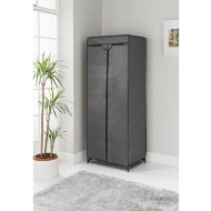 Spaceways Double Canvas Wardrobe & Shelf - Grey