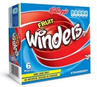 Kellogg's Fruit Winders - Strawberry 6 x 17g