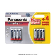 Panasonic AAA Alkaline Batteries 4 + 4