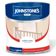 Johnstone's Liquid Gloss Paint - Brilliant White 2.5L