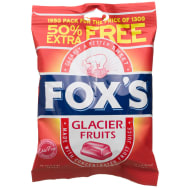 Fox's Glacier Fruits 130g + 50% Extra Free