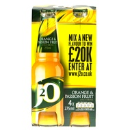J2O Orange & Passion Fruit 4x275ml