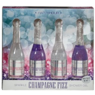 Champagne Shower Gel 4pk - Vanilla & Blackberry