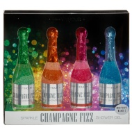 Champagne Shower Gel 4pk - Assorted