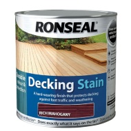 Ronseal Decking Stain - Rich Mahogany 2.5L