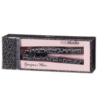 Mini Printed Hair Straighteners - Black Crackle